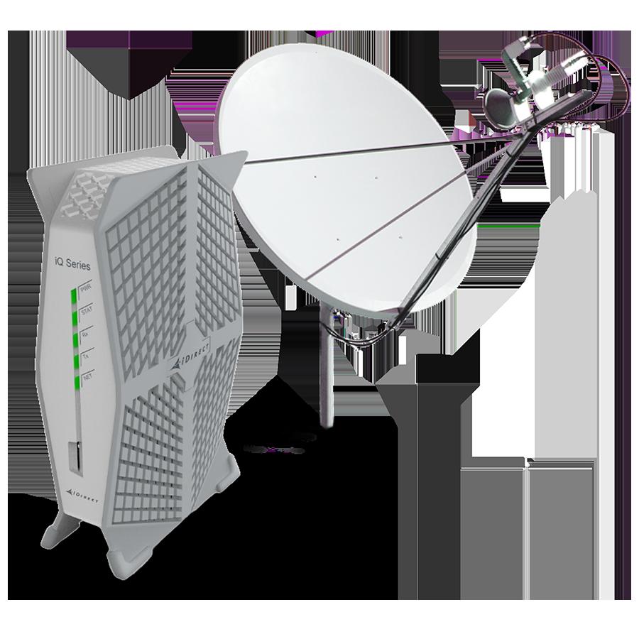 Fast satellite internet